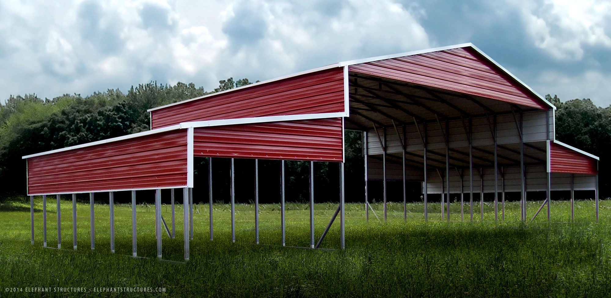Barns And Carports : Metal building photo gallery photos of custom