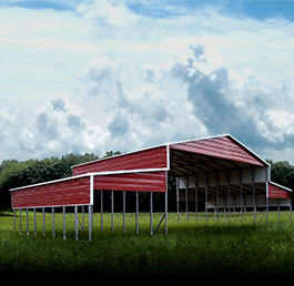 Premium metal barn and storage building.