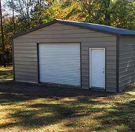 Custom garage and carport structures.