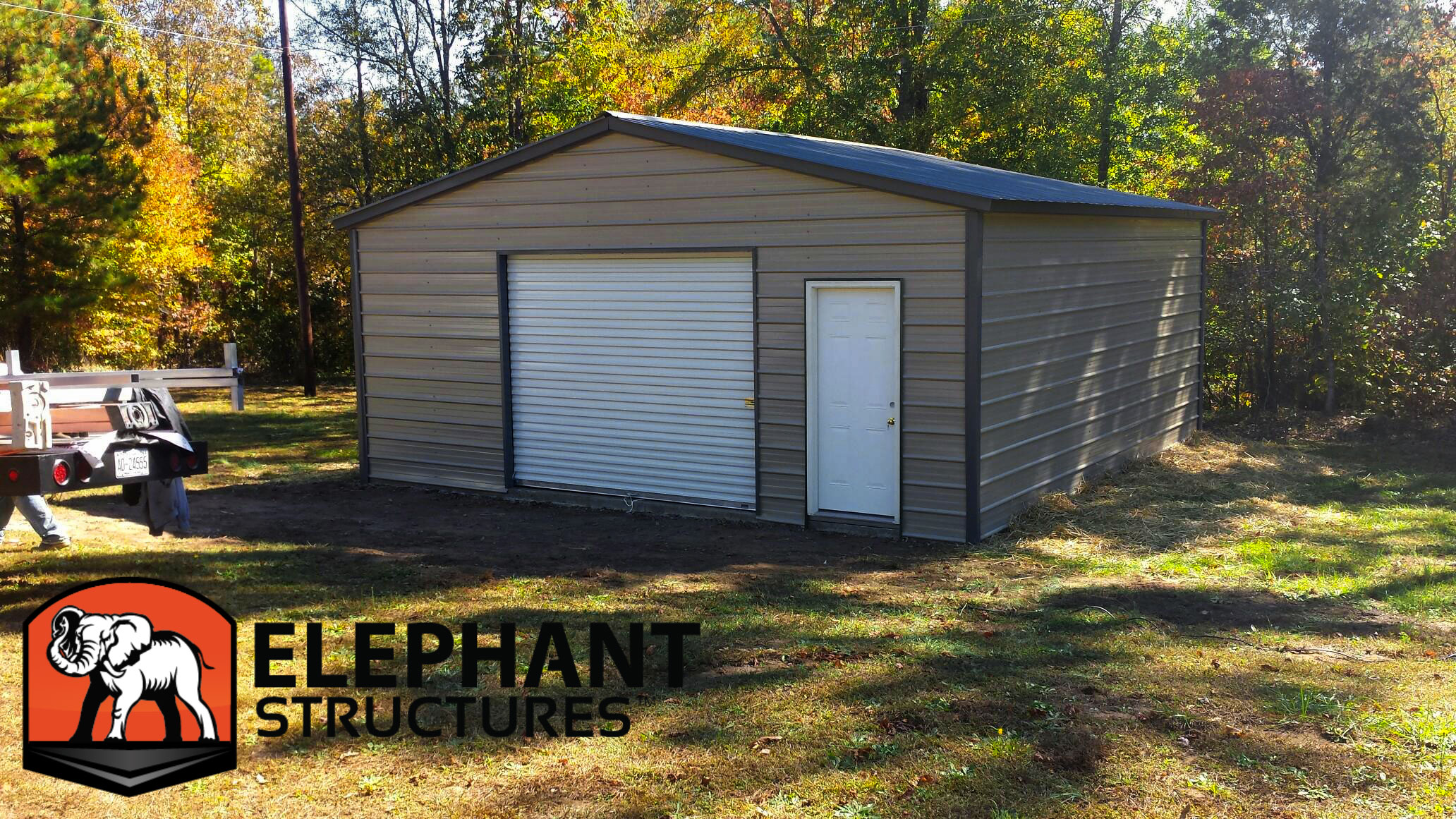 Elephant Metal Carports : Metal garages make life easier elephant structures