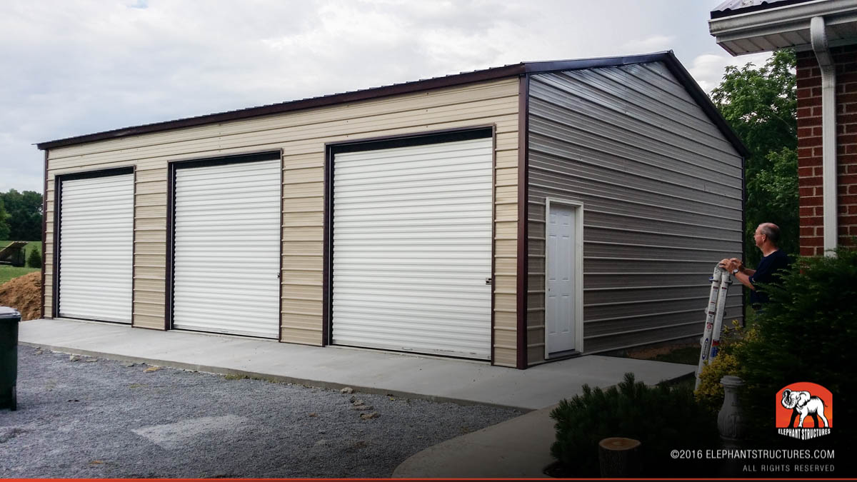 Metal garages for sale order customized metal garage and kits for Carport ou garage