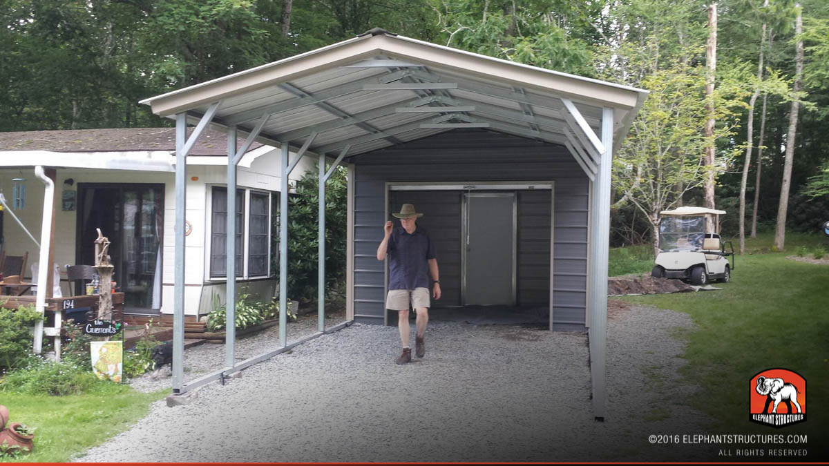 Metal carports for sale get prices on custom steel for Carport garages