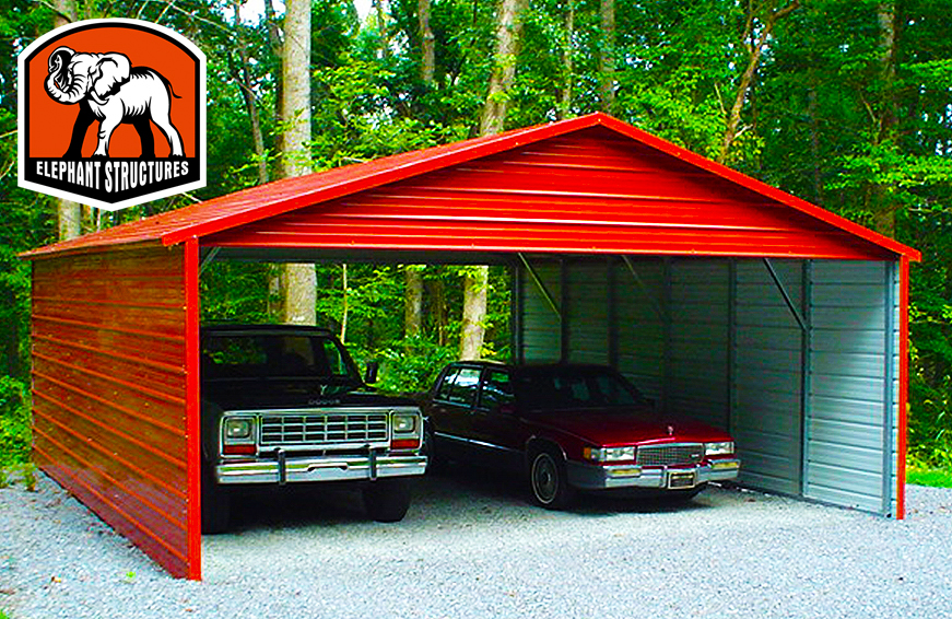 Double-wide metal carports can protect more than just your vehicles.