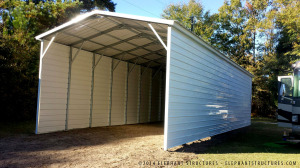 RV carport style metal building.