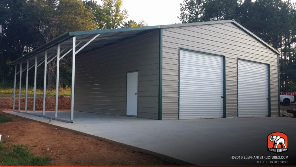 Metal garages for sale order customized metal garage and kits for Garage and shop buildings