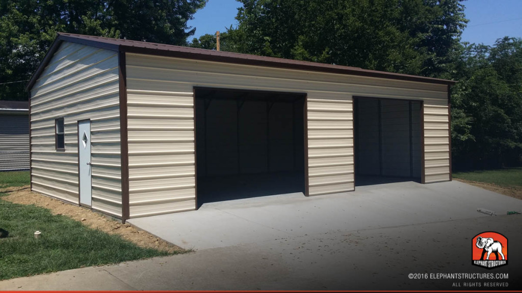 Metal garages for sale order customized metal garage and kits for Residential garage kits
