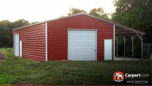A custom metal garage.